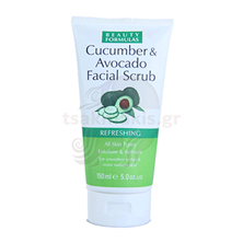 Εικόνα της BEAUTY FORMULAS Facial Scrub Cucumber & Avocado 150ml
